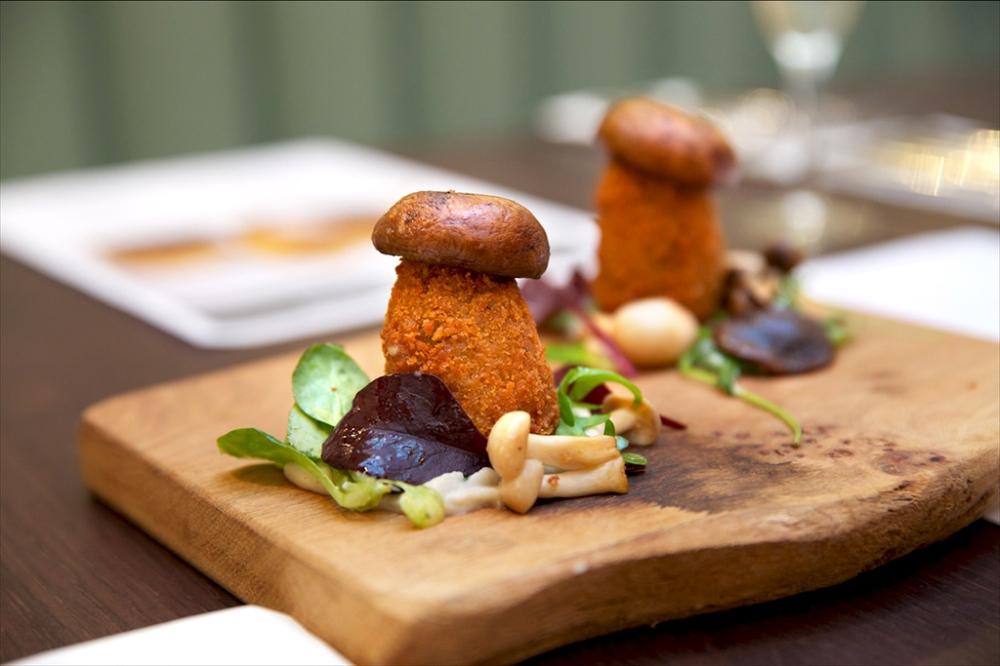 Umberto's Mushroom, Artichoke and Taleggio Arancini